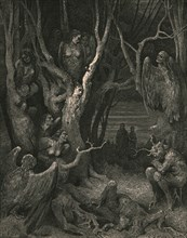 Here the brute Harpies make their nest', c1890.
