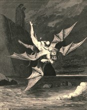 But the other proved a goshawk...and in the boiling lake both fell', c1890.