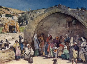 The Fountain of the Virgin at Nazareth', 1902.