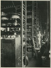 The Shelves of Edison's Laboratory with Samples of Every Known Substance', 1902.
