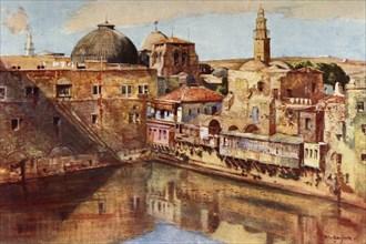 Jerusalem.- The Pool of Hezekiah', 1902.