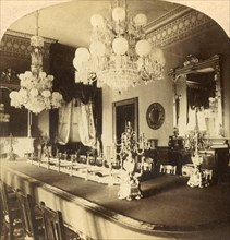 State Dining Room, President's Mansion, Washington, D.C., U.S.A.', c1900.