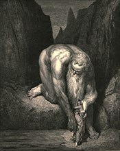 Yet in the abyss, that Lucifer with Judas low ingulfs, lightly he placed us', c1890.