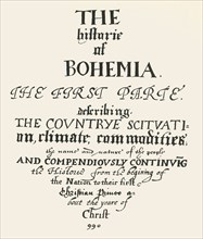 The Historie of Bohemia', 1619-1620, (1947).