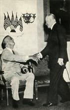 President Benes visits F. D. Roosevelt in 1942', (1947).