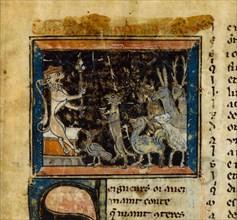 Miniature from the Le Roman de Renart , 13th century.