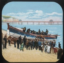 Launching the Life-boat', c1900.