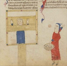 The pillory. From the Coutumes de Toulouse, 1295-1297.
