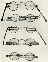 Various types of spectacles...of the late 18th and early 19th centuries, (1934).