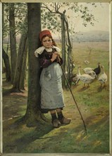 The Goose Girl, ca 1885.