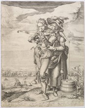 The Crossbowman and the Milkmaid, c. 1610.