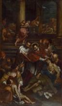 Saint Charles Borromeo among Plague Victims , Second Half of the 17th cen..