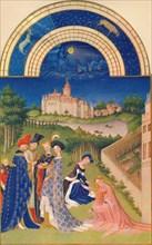 April - the Château de Dourdan, 15th century, (1939).