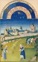 June - the palace and the Sainte-Chapelle, 15th century, (1939). s