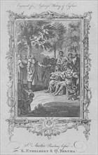 St. Augustine Preaching before King Ethelbert & Queen Bertha', 1773.