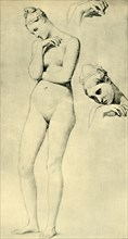 Studies for the figure of Stratonice, c1834-1840