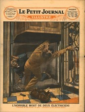 The horrible death of two electrians,1929