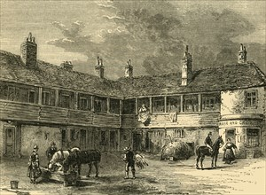 """'Court-Yard of the """"Rose and Crown"""", 1820'"""
