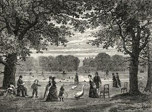 'The Round Pond, Kensington Gardens'