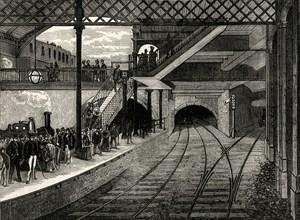 'King's Cross Underground Station in 1868', (c1876)