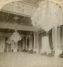 'East Room in President's Mansion, Washington