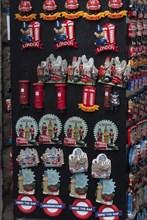 Refrigerator magnets as souvenirs depicting the various speciailties of London,  Creator: Ethel Davies;Davies