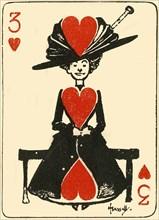 The waiting virgin, from the three of hearts', 1910. Creator: John Hassall.
