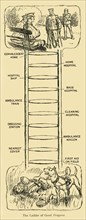 'The Ladder of Good Progress', First World War, c1914, (c1920). Creator: Unknown.