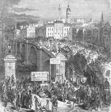 'London Bridge, 1872', 1872.  Creator: Gustave Doré.