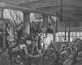 'St. Katherine's Dock', 1872.  Creator: Gustave Doré.