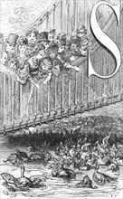 'St. James's Park - Feeding the Ducks', 1872.  Creator: Gustave Doré.