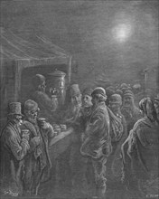 'Coffee Stall - Early Morning', 1872.  Creator: Gustave Doré.