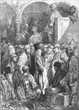 'Billingsgate - Opening of the Market', 1872.  Creator: Gustave Doré.