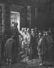 'Refuge - Applying for Admittance', 1872.  Creator: Gustave Doré.