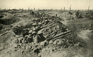 'British troops awaiting the order to attack', Western Front, First World War, c1916, (c1920). Creator: Unknown.