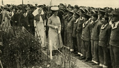 Queen Mary in northern France, First World War, July 1917, (c1920). Creator: Unknown.