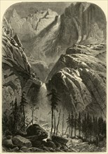 'Yosemite Fall', 1872.  Creator: Alfred Harral.