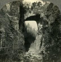 'One of Nature's Curiosities, the Natural Bridge in Virginia', c1930s. Creator: Unknown.