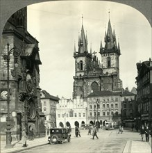 'Old Town Square and Teyn Church, Praha, Czechoslovakia', c1930s. Creator: Unknown.