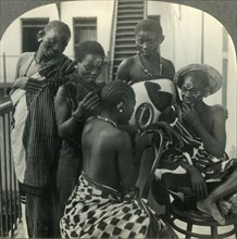 'A Beauty Parlor on  Zanzibar, Africa - Swahili women take care of their hair', c1930s. Creator: Unknown.