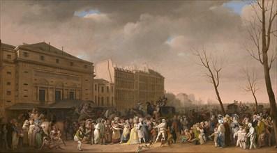 Carnival scene , 1832. Creator: Boilly, Louis-Léopold (1761-1845).