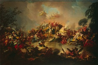 Apotheosis of the Reign of Catherine II, 1767. Creator: Guglielmi, Gregorio (1714-1773).