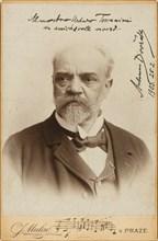 Portrait of the Composer Antonin Dvorak (1841-1904) , c. 1900. Creator: Photo studio J. Mulac, Prague  .