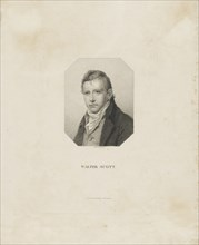 Portrait of the historical novelist and poet Sir Walter Scott (1771-1832), ca 1825. Creator: Bollinger, Friedrich Wilhelm (1777-1825).