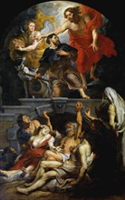 Christ appointing Saint Roch as patron saint of the plague victims, 1623-1626. Creator: Rubens, Pieter Paul (1577-1640).