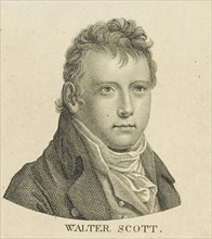 Portrait of the historical novelist and poet Sir Walter Scott (1771-1832), c. 1800. Creator: Anonymous.
