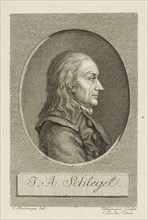 Johann Adolf Schlegel (1721-1793) , c. 1790. Creator: Uhlemann, Christian Friedrich Traugott (1765-1857).