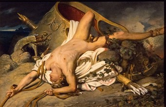 The Death of Hippolytus, 1825. Creator: Court, Joseph-Désiré (1797-1865).
