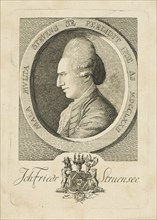 Portrait of Count Johann Friedrich Struensee (1737-1772), 1773. Creator: Anonymous.