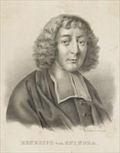 Portrait of Baruch Spinoza, c. 1830-1840. Creator: Küstner, Gottfried (1800-1864).